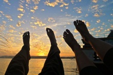 Traveling-feet-Sunset by Journeying James