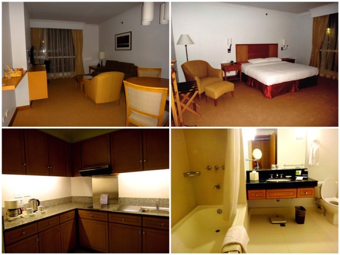 bedroom with living room, kitchen, rest room with shower and bathtub, hot tub,  Linden Suites, business hotel, Ortigas, Pasig City, Manila