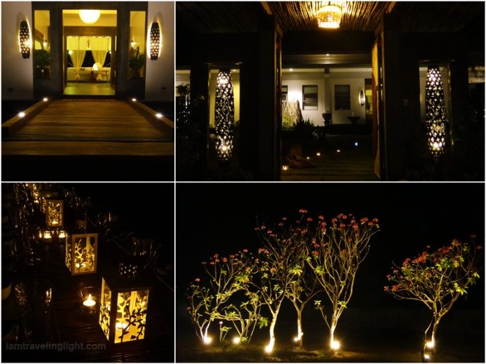 fiberglass lamps, metal glass lamps, filigree lamps, peek-a-boo pattern, tree lights, Soft, romantic lights, night, Zambawood Resort, luxury resort, advocacy resort, La Paz, San Narciso, Zambales
