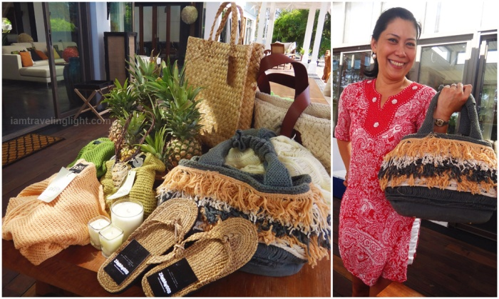 native indigenous bags, piña, water lily bag, support locals, fair trade, social enterprise, Zambawood Resort, luxury resort, advocacy resort, La Paz, San Narciso, Zambales