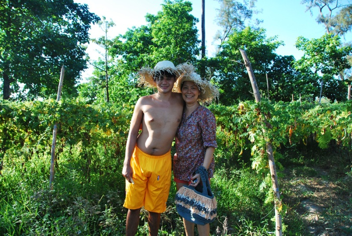 owner rachel harrison and her son Julyan (with autism), organic farm, zambawood, zambales luxury resort, advocacy resort, cause, inspiring story
