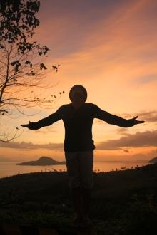 amer, sunset