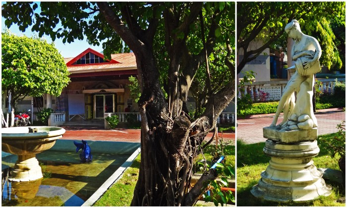 fountain, garden, budget hotel, President Hotel, Lingayen, Pangasinan, former Fidel Ramos house