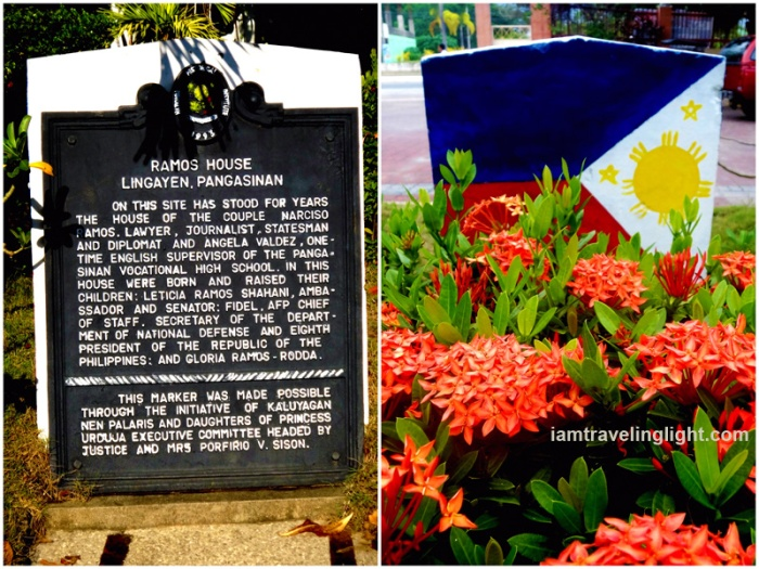 historical marker, Philippine flag, former Fidel Ramos house, President Hotel, budget hotel, Lingayen, Pangasinan