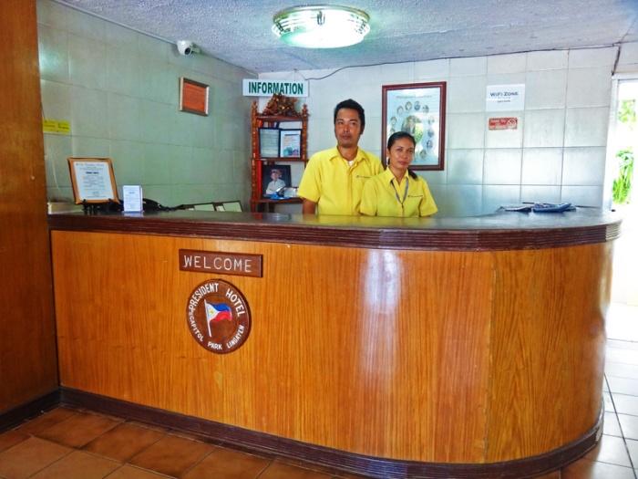 President Hotel, budget hotel, lobby, wood, Lingayen, Pangasinan