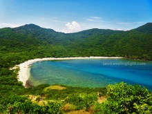 Siwangag Cove, white beach, view from the top near Cape Engano lighthouse, Palaui, best, one of the CNN top beaches in the world, Santa Ana, Cagayan, Philippines