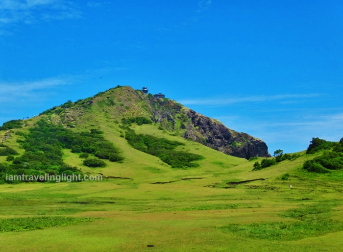 trek, green hills, Cape Engano, Palaui, with top CNN beach, Santa Ana, Cagayan