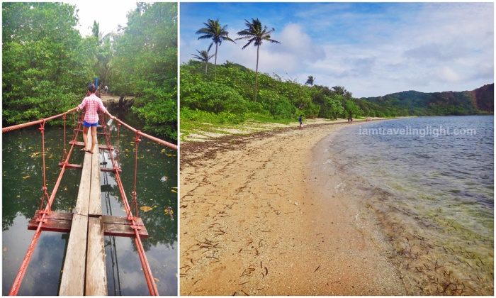 wooden hanging bridge, mangroves, beach, trek to Cape Engano lighthouse, Palaui, best, CNN top beach in the world, Santa Ana, Cagayan, Philippines