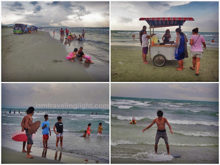 capitol beach, public beach, powder fine gray sand, Lingayen, Pangasinan