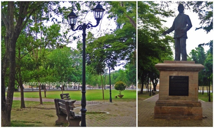 park near provincial capitol, Aguedo Agbayani Park, Lingayen, Pangasinan