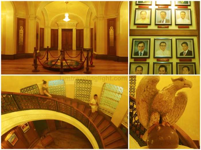 provincial capitol, beautiful capitol building in the Philippines, pre-World War 2 architecture, arches, eagle carving, wood interior, Pangasinan official seal, spiral staircase, Lingayen, Pangasina