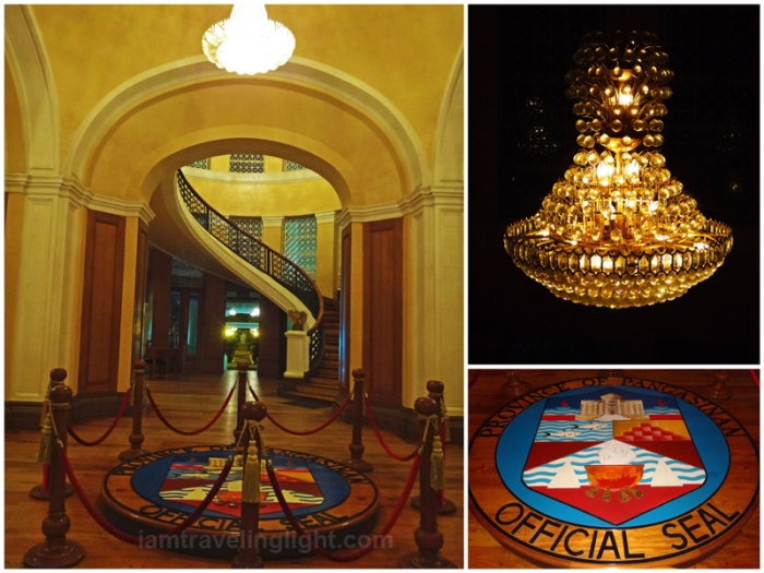 provincial capitol, most beautiful capitol building in the Philippines, pre-World War 2 architecture, arches, interior, Pangasinan official seal, spiral staircase, Lingayen, Pangasinan