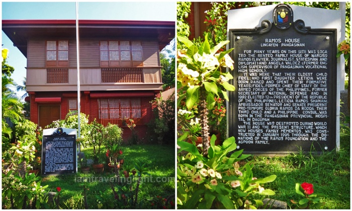 Ramos house replica, Philippines President Fidel Ramos childhood house, wood, historical marker, Lingayen, Pangasinan