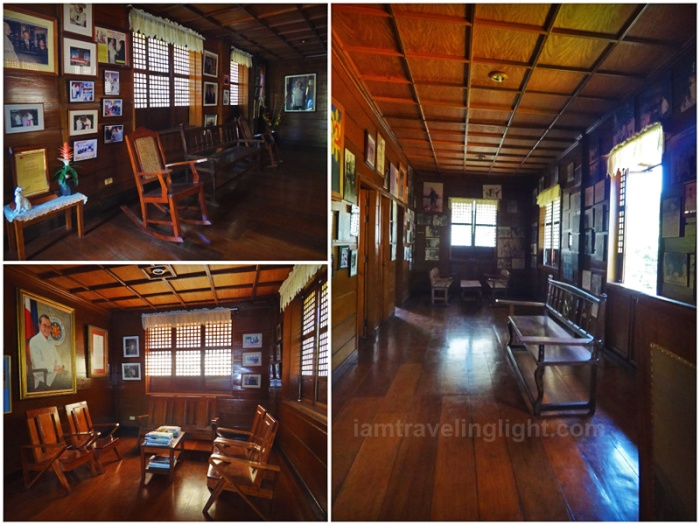 Ramos house replica, Philippines President Fidel Ramos childhood house, wood, memorabilia, photos, Lingayen, Pangasinan