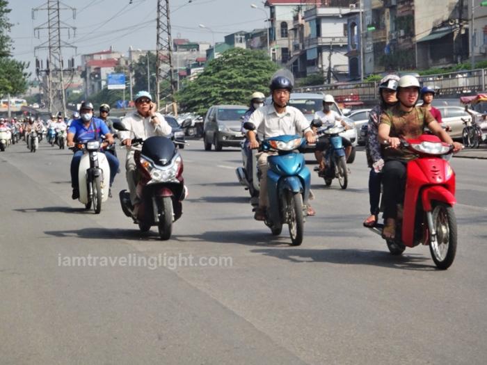 hanoi, vietnam, motorcycle traffic, motorbike traffic