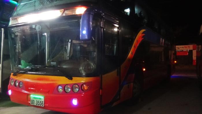 nightmare bus hanoi to vientiane, (vietnam to laos) lao sign only, no destination signage