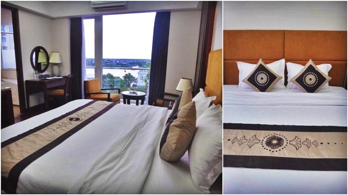 deluxe room, luxurious bed, luxury hotel, moonlight hotel, hue, vietnam
