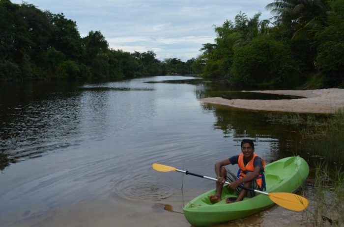 kampot river, cambodia, kayak