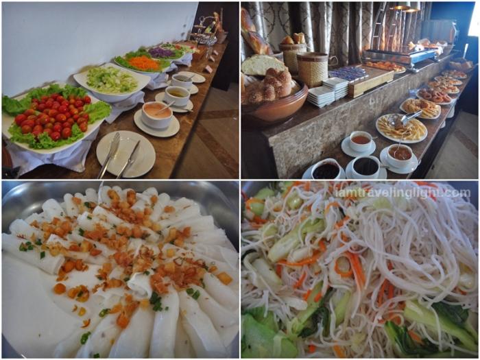 vietnamese and western buffet breakfast, moonlight hotel, hue, vietnam, luxury hotel