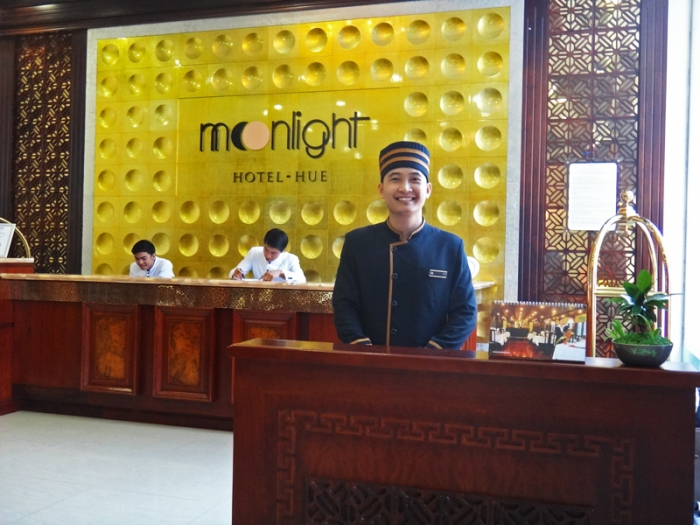 warm welcome, friendly staff, Moonlight Hotel Hue, Vietnam, luxury hotel