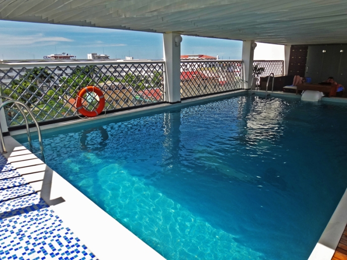 roof deck pool, moonlight hotel deluxe room, luxury hotel, hue, vietnam