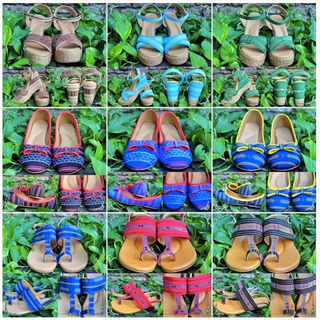 cordillera ii collection, sandals indigenous textiles