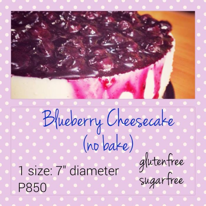 jay blueberry cheesecake no bake