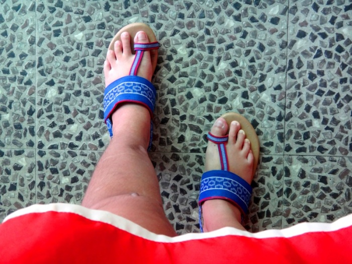 Lakhambini sandal use after injury