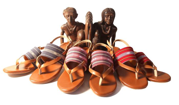 Lakhambini sandals made with indigenous Cordillera textiles