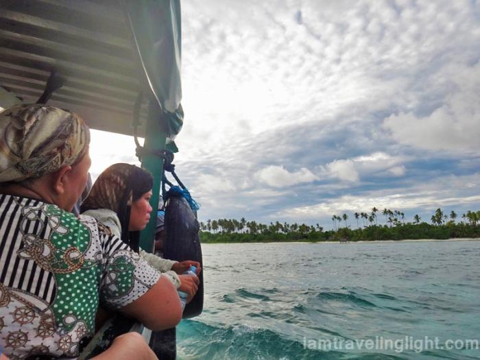 approaching remote Sibutu Island, Tawi-tawi, Mindanao, Philippines