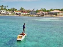 clear waters, small boat to Sibutu, Sibutu port, Tawi-tawi, Mindanao, Philippines
