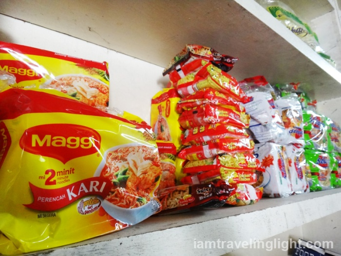 Maggi Kari and other products from Malaysia, remote Sibutu Island, Tawi-tawi, Philippines