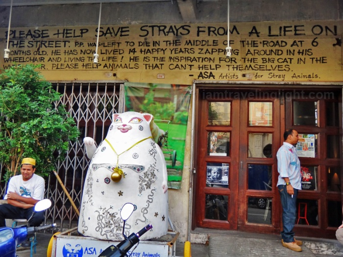 Artists for stray animals, Penang cat street art