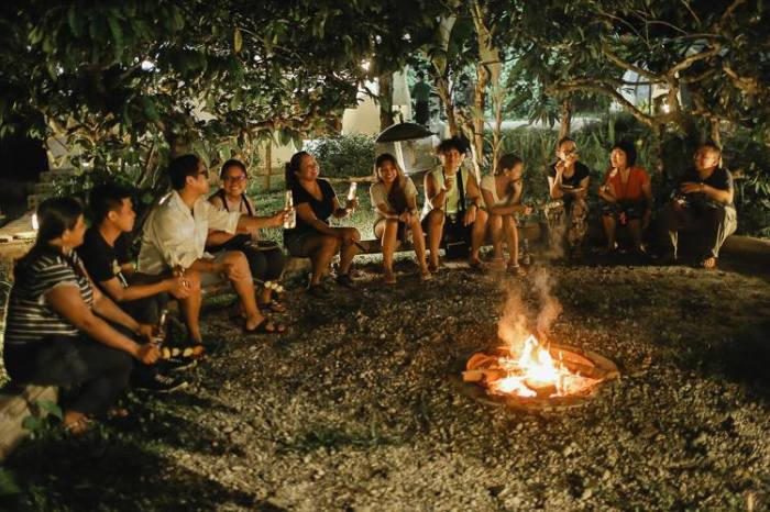 Bonfire, group, Nurture Wellness Village, glamping, Tagaytay, Amadeo, Cavite, farm resort, destination spa