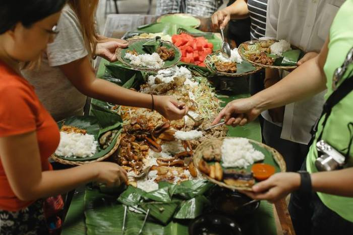 Boodle lunch, Nurture Wellness Village, Tagaytay, Amadeo, Cavite, farm resort, destination spa