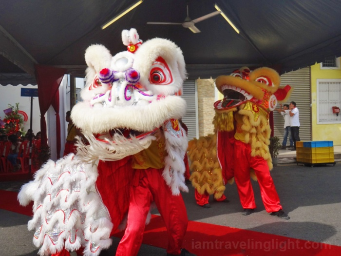 lion dance, Georgetown, Penang, Malaysia