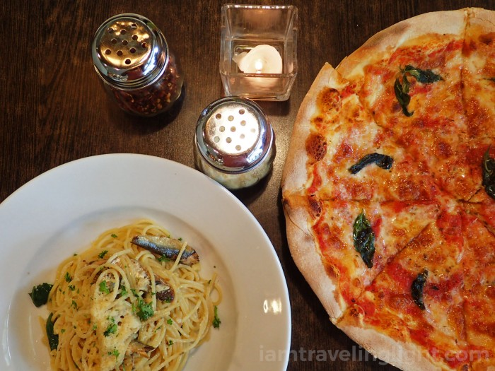 pizza and pasta at casual dining restaurant, Metro Manila.jpg