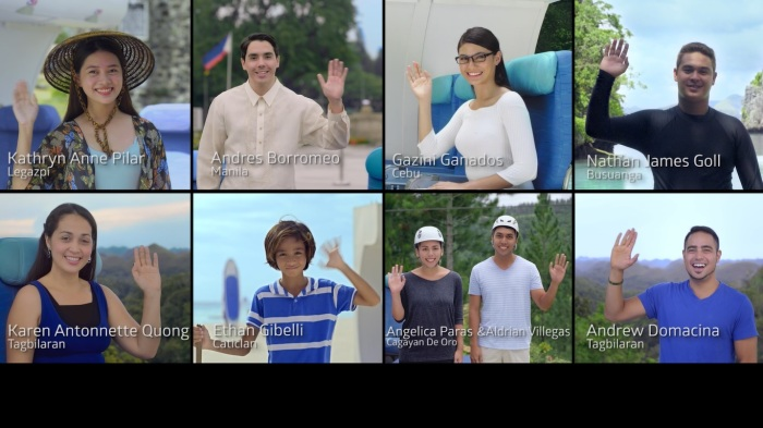 local talents and actors, from PAL Philippine Airlines inflight safety video.jpg