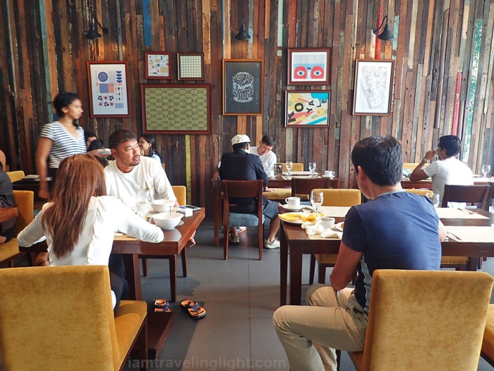 Charming restaurant made of reclaimed wood, Braska Restaurant, breakfast, Amelie Hotel Manila, Malate.jpg