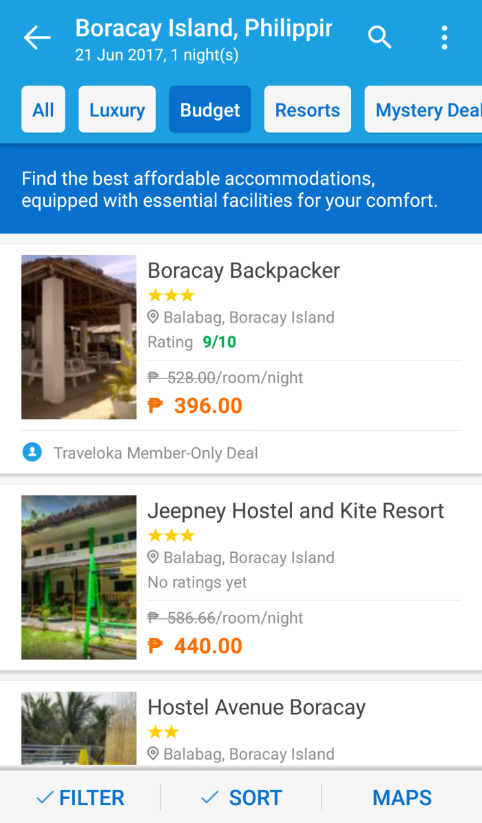 Boracay book cheap accommodation via Traveloka app, hostel, budget hotel.png