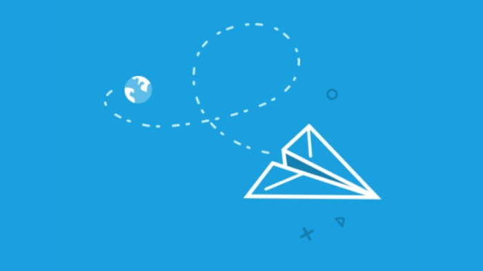cover photo traveloka paper plane app