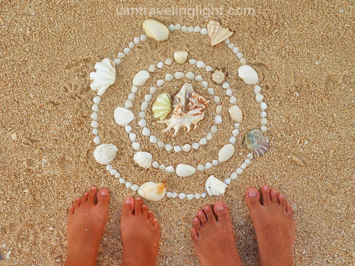 sea shell mandala, prayer, white stretch of sand, Alibijaban Island, Quezon, Philippines, white beach, remote beach, island.jpg