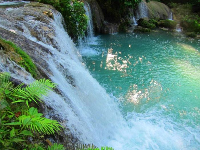 Siquijor Island, Cambugahay Falls, beautiful, accessible by motorbike