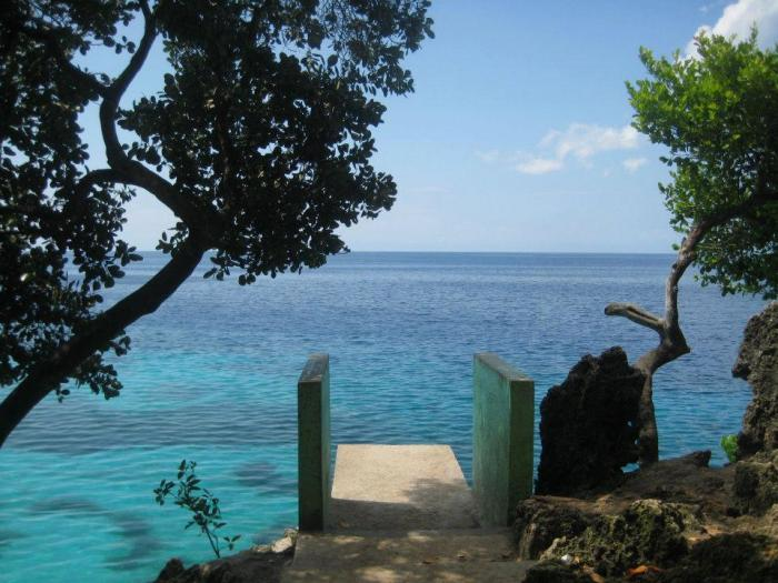 Siquijor, Salagdoong Beach, diving board, cliff jump, sea
