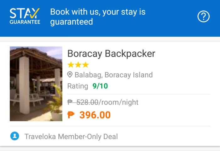 Traveloka Boracay hostel member only deal, booking site, app.png