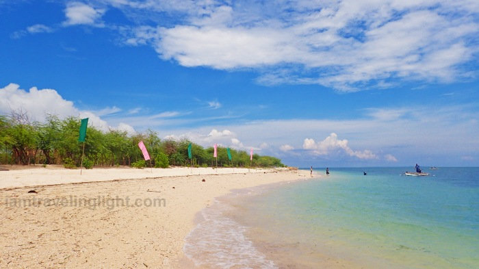white stretch of sand, clear blue waters, Alibijaban Island, Quezon, Philippines, white beach, remote beach, island.jpg