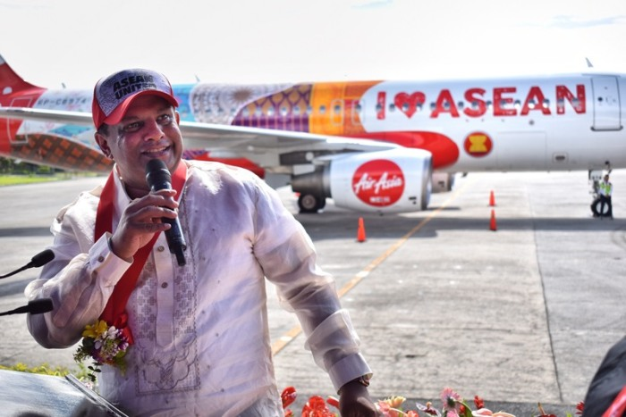 AirAsia group CEO Tony Fernandes, speech, opening, ASEAN 50 years anniversary, livery, AirAsia plane, I love ASEAN plane