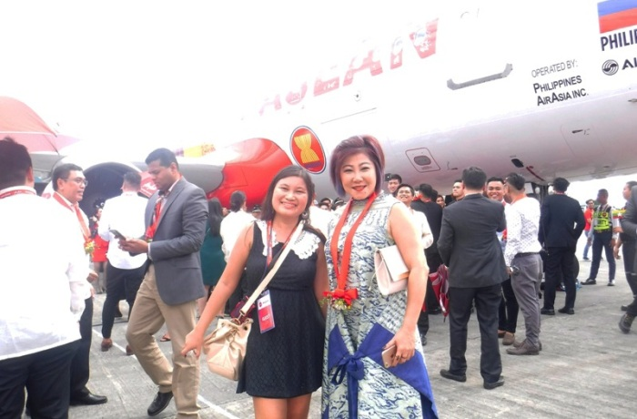 With Damn I Love Indonesia director, clothing brand, Southeast Asia, ASEAN 50 years anniversary, livery, AirAsia plane, I love ASEAN plane