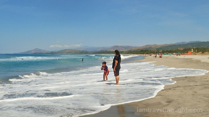 long shore, budget beach, surfing beach, surf, mountain backdrop, agoho trees like pine, Liwliwa, San Felipe, Zambales.jpg