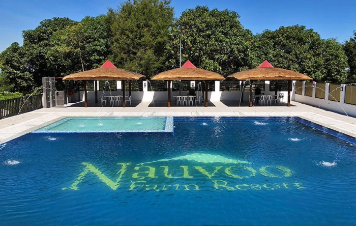 new vanishing pool, 200 square meter pool, with native huts, mountain view, Nauvoo Farm Resort, fruit farm, tree farm, Magalang, Pampanga